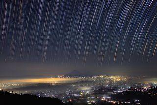 Ночной остров Ява со склона вулкана Мерапи