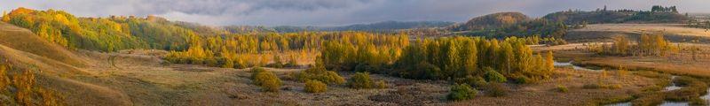 Изборск, Псков, осень, панорама, природа, деревья, листва Панорама осеннего Изборскаphoto preview