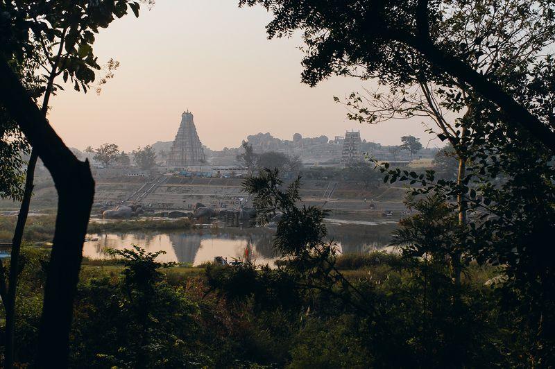 landscape temple India architecture Hampephoto preview
