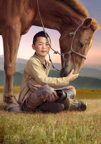 Mongolian kid