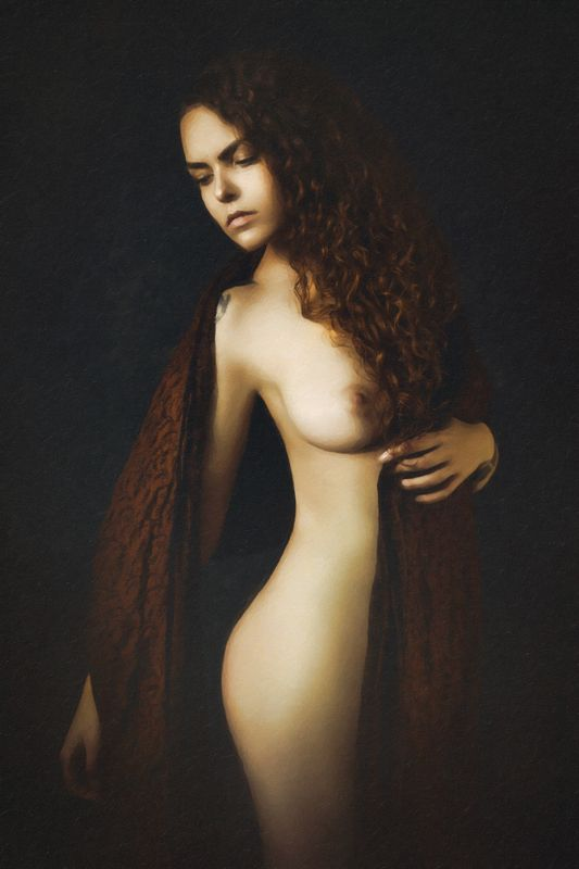 woman, portrait, nude, studio, beauty Painted by Lightphoto preview