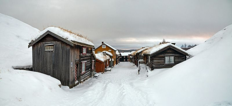 røros,norway,town,wooden,architecture,house,street,urban, Mining townphoto preview