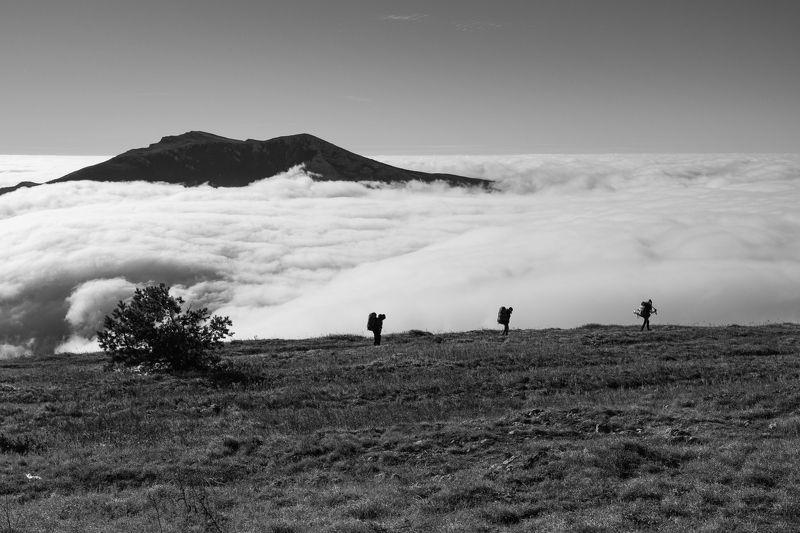 горы, облака, Крым, силуэт Путьphoto preview