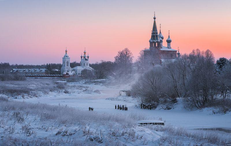 зима, рассвет, река, утро, пейзаж, дунилово Зимняя открытка из Дуниловоphoto preview