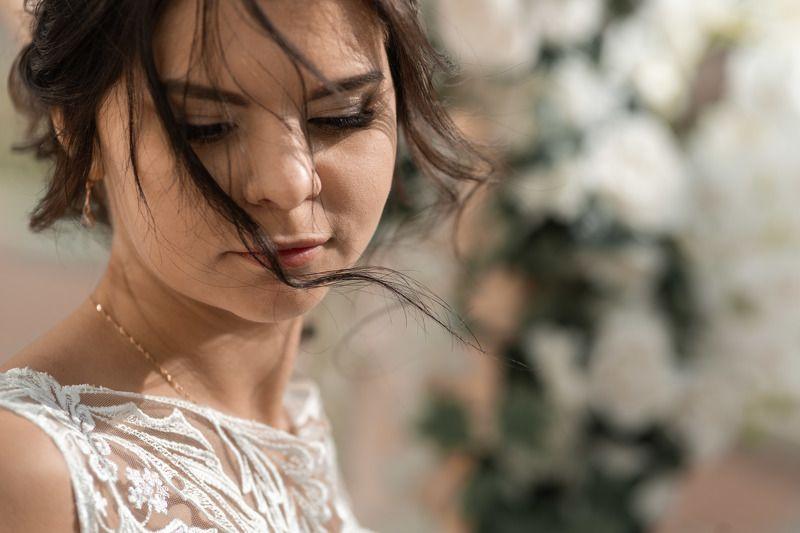 свадьба, свадебная фотосессия,  невеста, свадебное платье, счастье, любовь, портрет, фотосессия, bride, wedding, love, happy, dress, wedding dress, portrait, woman, женский портрет, свадебная фотография Невеста Марияphoto preview