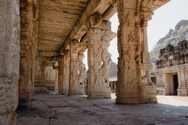 landscape temple India architecture Hampe Templephoto preview