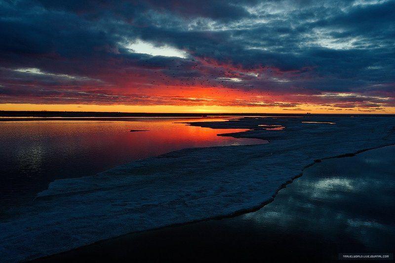 Закат, Море, Пейзаж Sunset in St.Petersburgphoto preview