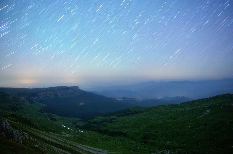 оштен, лаго-наки, ночь Дождь звездами рисуя.photo preview