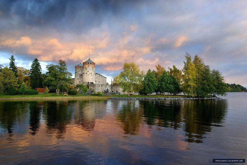 крепость, финляндия Magic castle Olavinlinnaphoto preview
