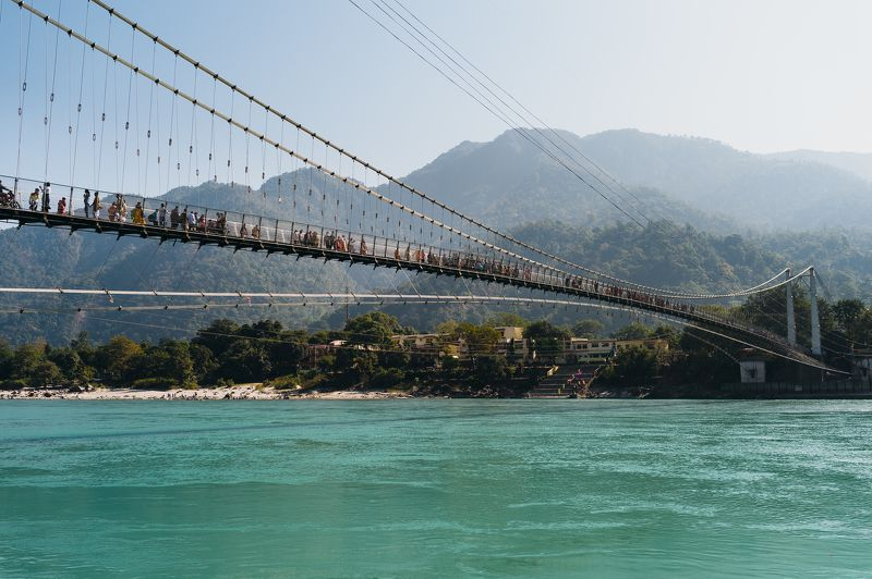 landscape Gang India architecture Rishikesh Walking Bridge photo preview