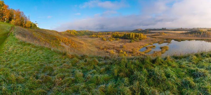 псков изборск осень листва городище природа заповедник ...photo preview