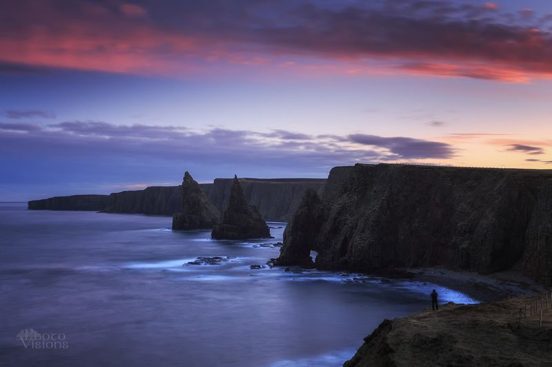 scotland,uk,duncansby,stacks,sea stacks,sea shore,cliffs,rocks,shoreline,coast,blue hour,sunset,evening,night, Duncansby stacksphoto preview