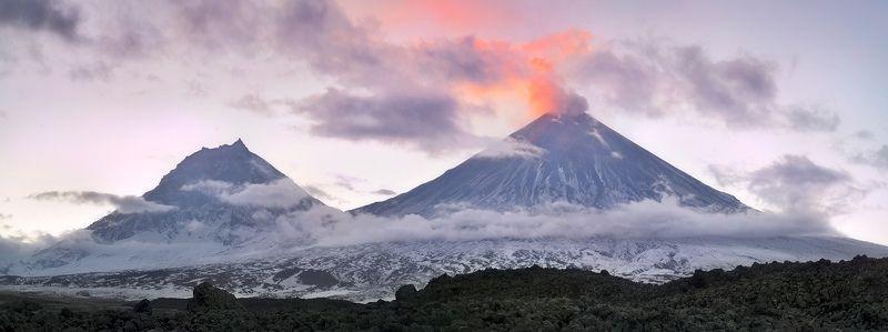 камчатка, вулкан, ключевской, камень, небо, облака, горы, снег Невероятная Камчаткаphoto preview