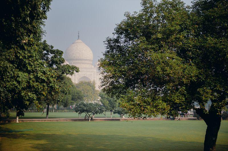 landscape temple India architecture Taj Mahalphoto preview