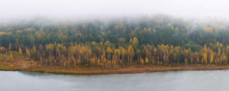 псков изборск мальская мальское озеро природа туман вода осень Мальская долинаphoto preview