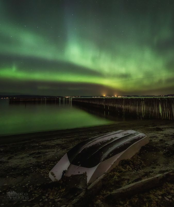 aurora,north,norway,sky,night,shore,beach,boat With the boatphoto preview