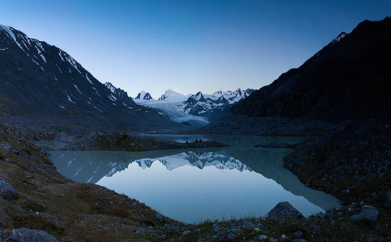 рассвет над ледником Софийскийphoto preview