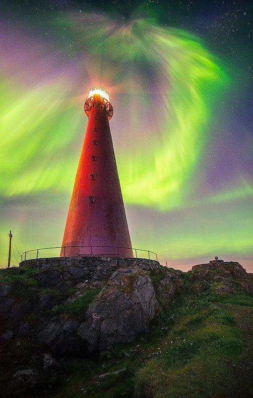 andenes, aurora, borelis, northernlight, norway Северный маякphoto preview