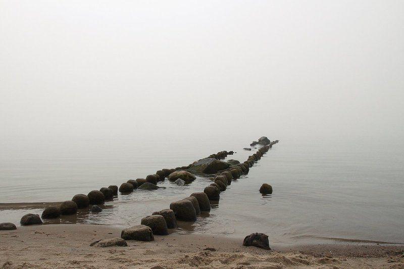 Балтика, Зеленоградск, Море, Туман Туманphoto preview