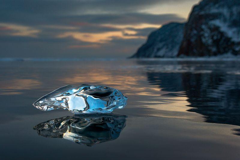 зима, лед, льдинка, байкал Байкальские самоцветыphoto preview