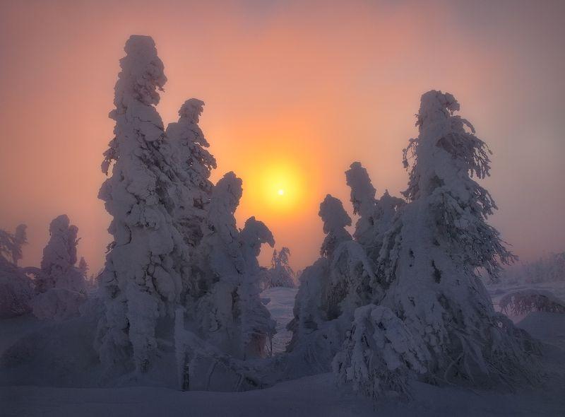 урал, зима, гух, рассвет Встретить рассвет...photo preview