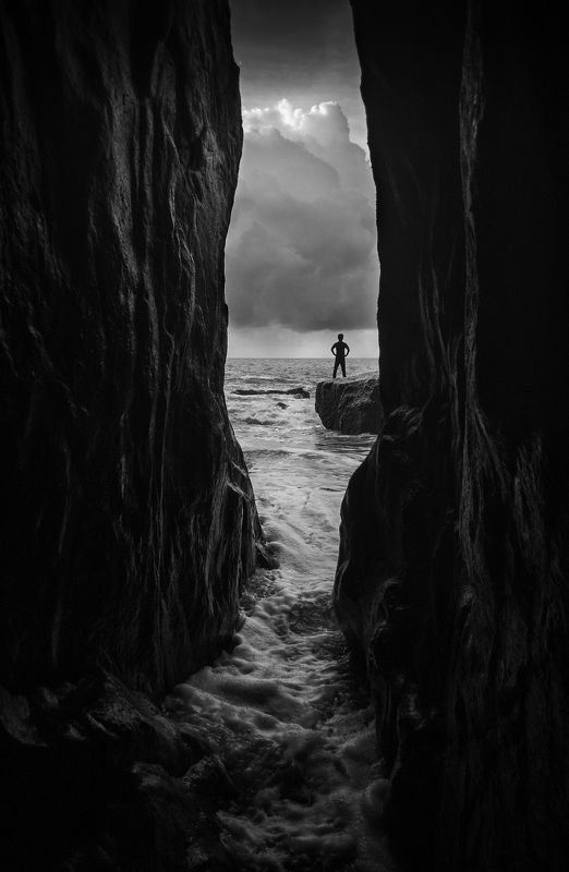Landscapes,black & white,Travel,China,Wenzhou,reef Watch the seaphoto preview