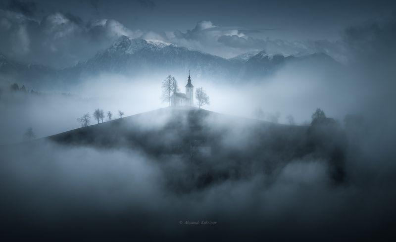 словения, осень, туман, пейзаж, утро Мистическая Словения...photo preview