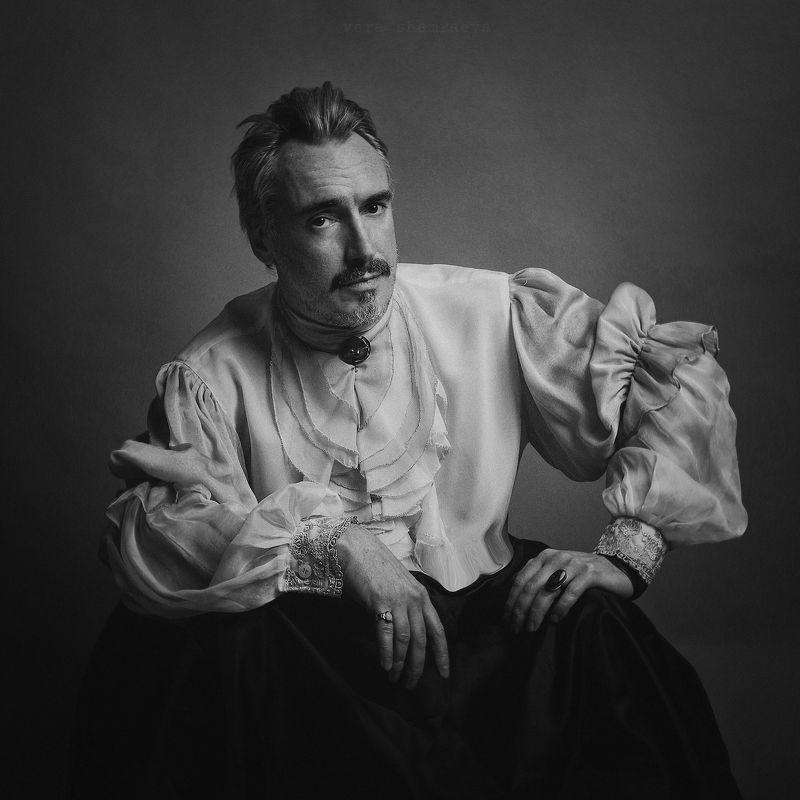 чб мужской портрет постановка вера шамраева ***photo preview