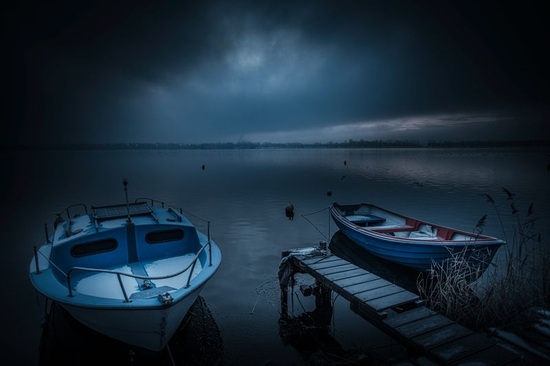 nature, landscape, pogoria, blue hour Blue Hour on Pogoria lakephoto preview