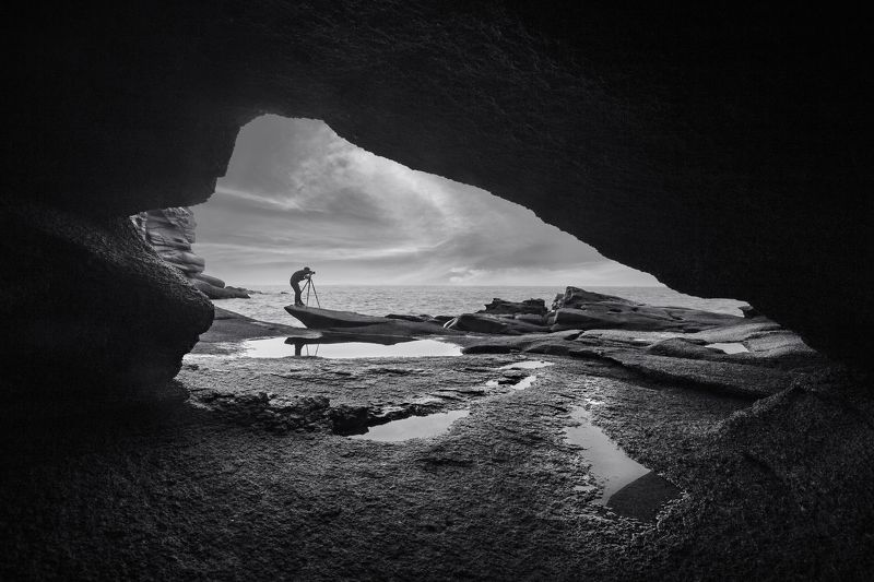 Landscapes,black & white,Travel,China,Wenzhou,reef Magic mirrorphoto preview