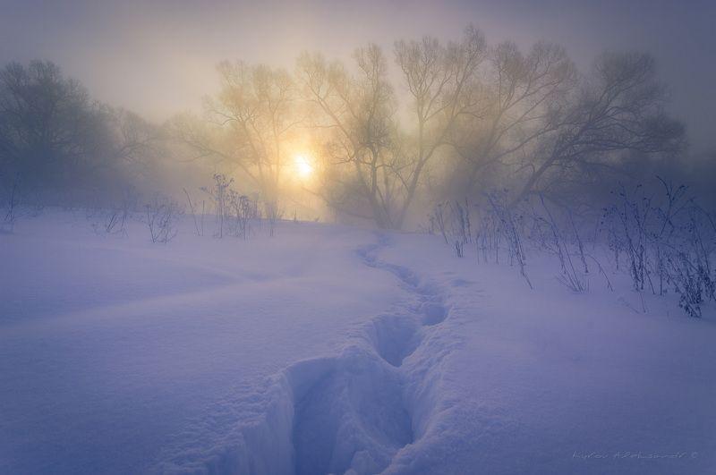 Морозное утро на р. Истра