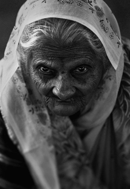 Black & white, Eyes, Indian, Woman photo preview