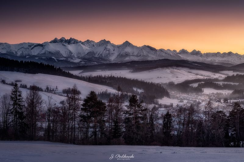 tatras, mountains, winter Winter panoramaphoto preview