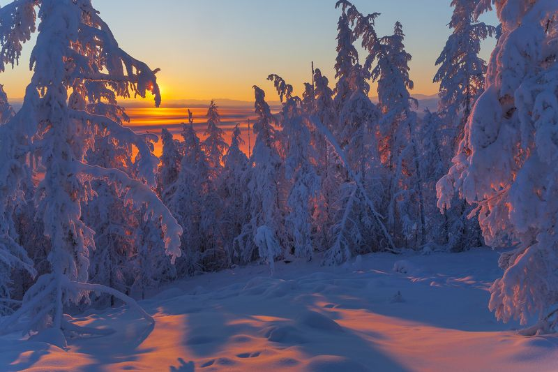 Зима в Якутии.