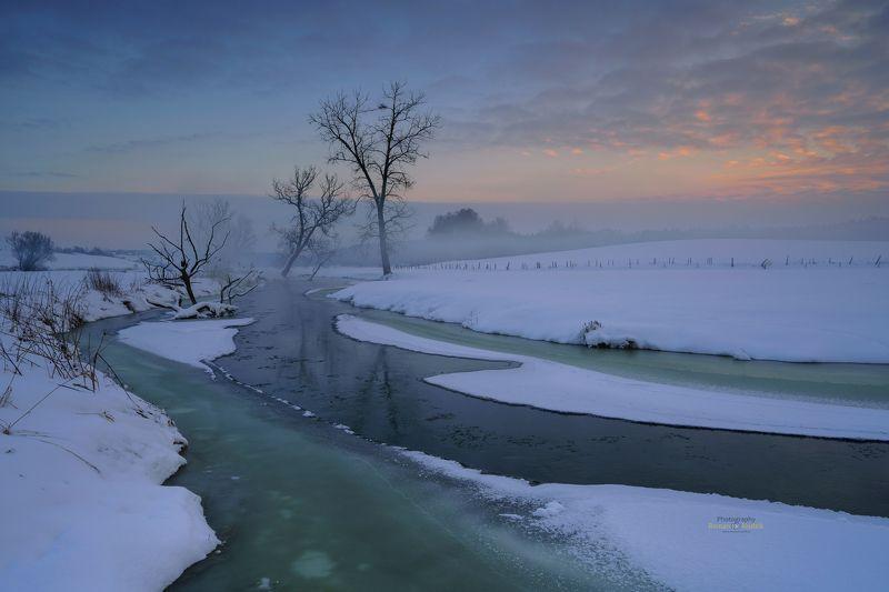 winter, Kociewie, Poland, landscape, winter, clouds, sunset, Winter in Kociewie.photo preview