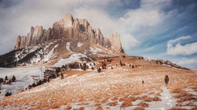 горы, nikon, nikkor, поход, Тхач, зима, краски, небо В путиphoto preview