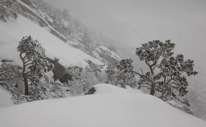 зима,туман,горы,вечер,снег,пейзаж,природа,дагестан.. Зимний пейзаж с туманом..photo preview