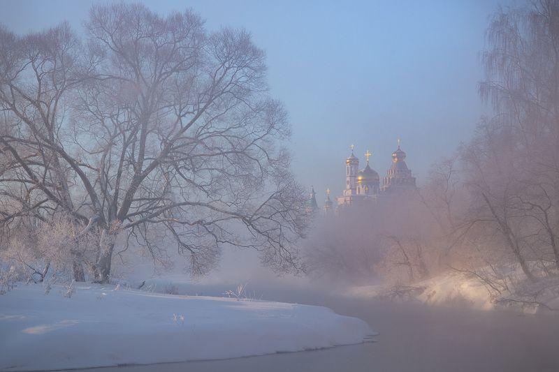 истра, зима, новоиерусалим, новоиерусалимский, монастырь, река Морозное утроphoto preview