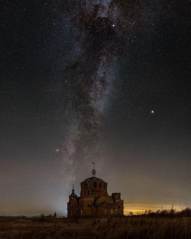 пейзаж, ночь, млечный путь Богоявлениеphoto preview