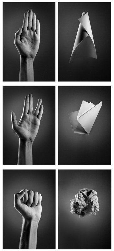 рука, руки, жест, знак, кулак, бумага Лист бумагиphoto preview