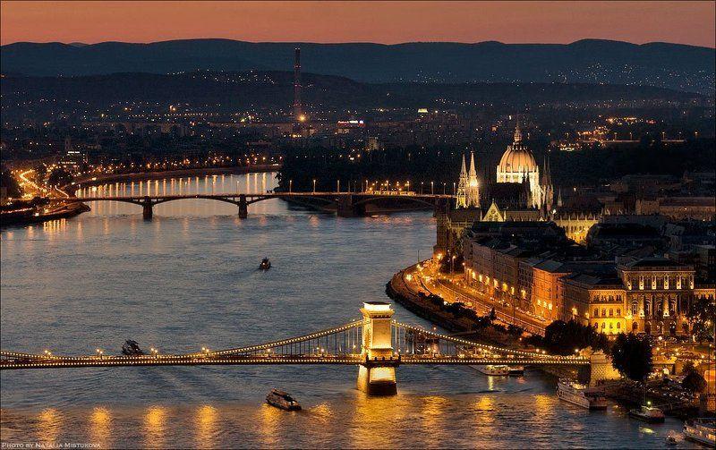 будапешт, город, огни золотой городphoto preview