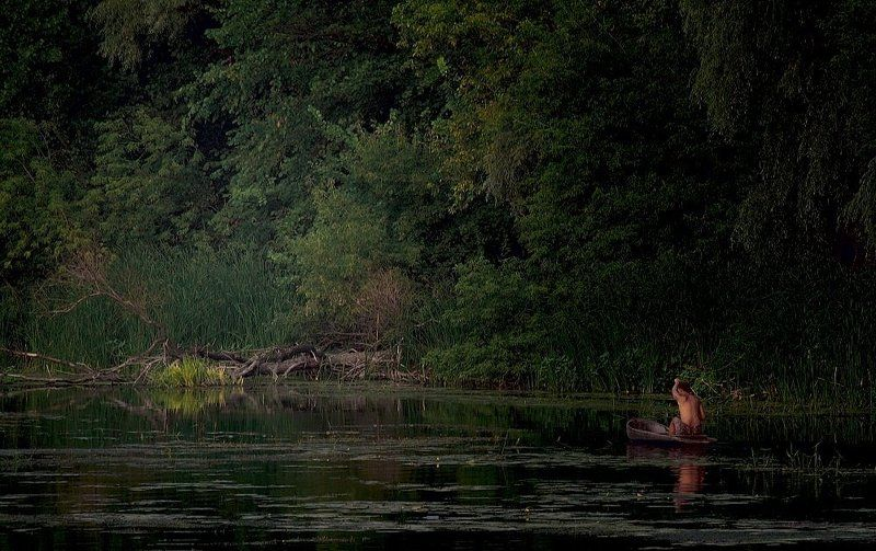 река, лес, индеец настоящему индейцу...photo preview