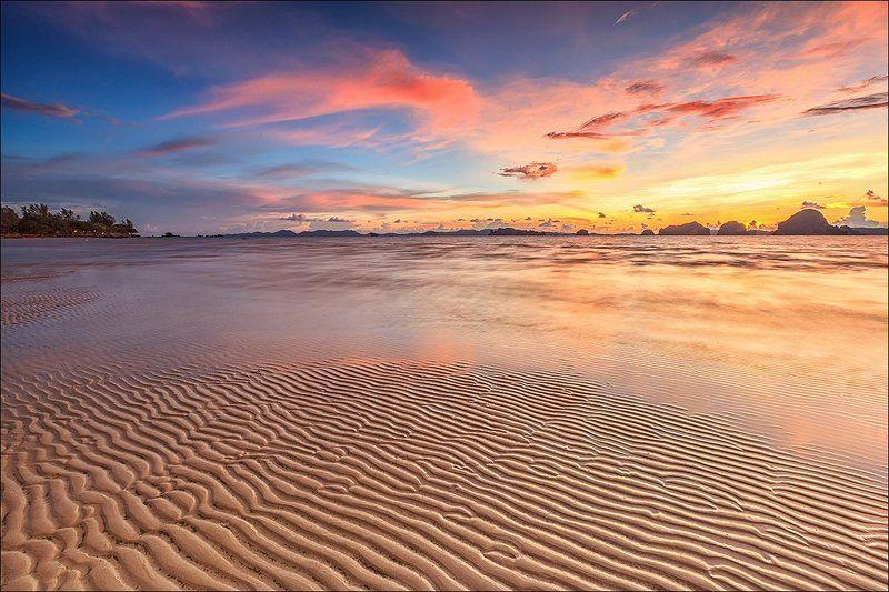 азия, тайланд, закат, море, небо, путешествия, обнаженный теплый берегphoto preview