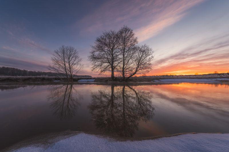 рассвет, река, утро, весна Перед рассветомphoto preview