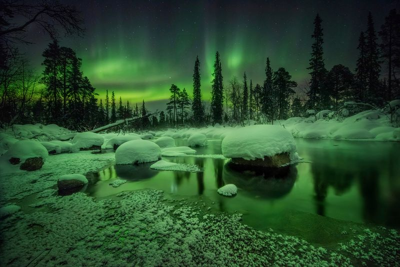Красота заполярной ночи.photo preview