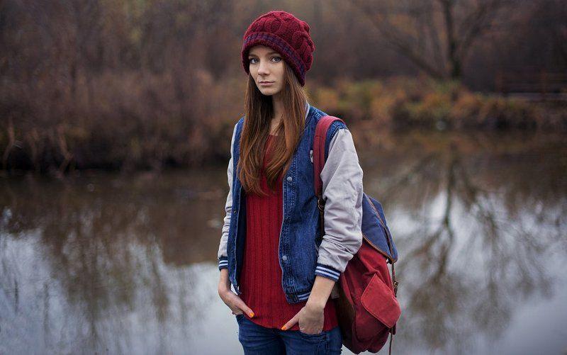 Девушка, Красный, Осень Ann Sphoto preview