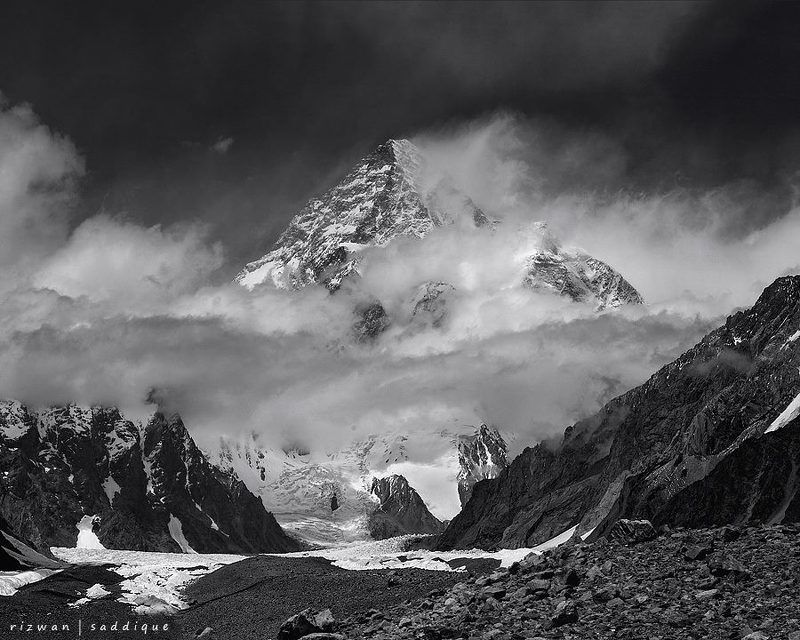 k2 8611m. Northran Area Skardu. Baltoro Muztagh Range Karakoram Pakistan.photo preview