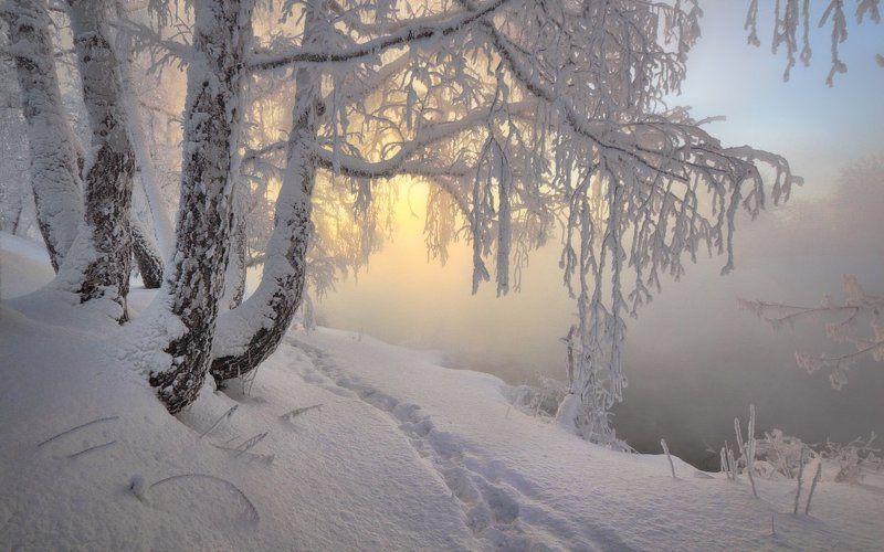 южный урал, река миасс, зима, рассвет,  seti, сергей тишкевич Утро красит нежным светомphoto preview