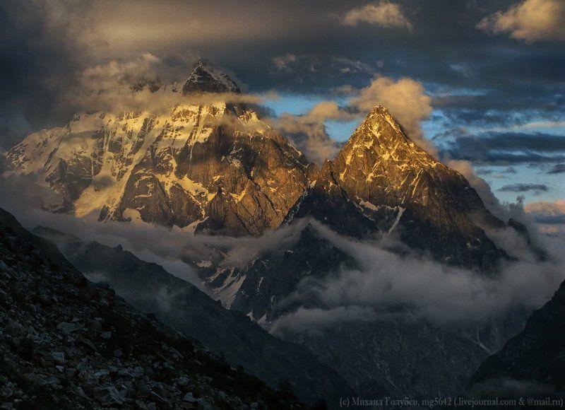 Горы, Закат, Кавказ, Сванетия, Свет, Ушба Феерия закатной Ушбыphoto preview