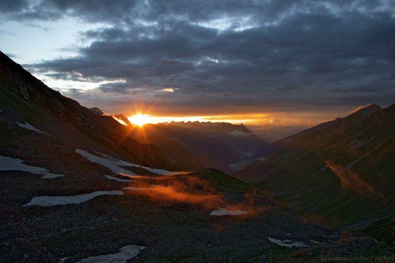 горы, кавказ, архыз, закат Закат в горах Архызаphoto preview